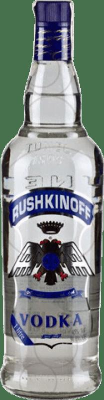 9,95 € Kostenloser Versand | Wodka Antonio Nadal Rushkinoff Blue Label Spanien Rakete Flasche 1 L