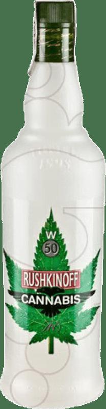 11,95 € Envío gratis | Vodka Antonio Nadal Rushkinoff Cannabis España Botella Misil 1 L