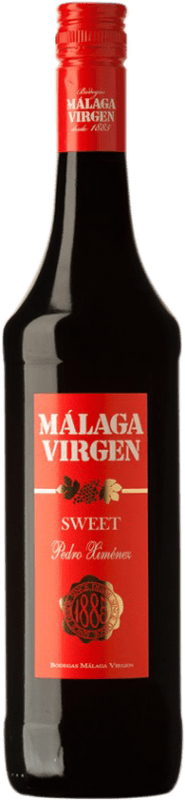 8,95 € Free Shipping | Fortified wine Málaga Virgen D.O. Sierras de Málaga Andalucía y Extremadura Spain Pedro Ximénez Bottle 75 cl