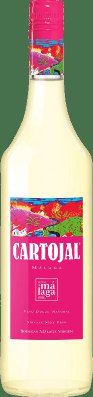 7,95 € Free Shipping | Fortified wine Málaga Virgen Cartojal D.O. Sierras de Málaga Andalucía y Extremadura Spain Muscatel Bottle 75 cl