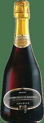4,95 € Free Shipping | Red sparkling Caldirola Bellavita D.O.C. Lambrusco di Sorbara Italy Lambrusco Bottle 75 cl