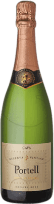7,95 € Free Shipping | White sparkling Sarral Portell Vintage Brut Nature Reserva D.O. Cava Catalonia Spain Macabeo, Parellada Bottle 75 cl | Thousands of wine lovers trust us to get the best price guarantee, free shipping always and hassle-free shopping and returns.