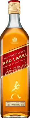 18,95 € Free Shipping | Whisky Blended Johnnie Walker Red Label United Kingdom Missile Bottle 1 L