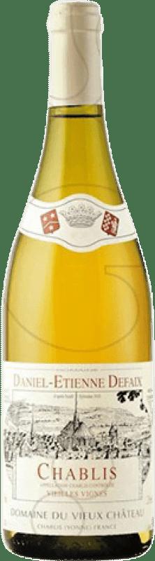 23,95 € Free Shipping | White wine Domaine Daniel-Etienne Defaix Vieilles Vignes Crianza A.O.C. Chablis France Chardonnay Bottle 75 cl