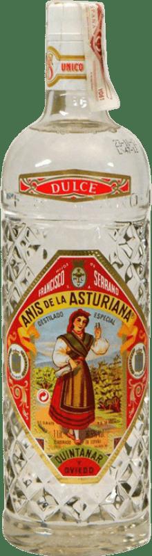 11,95 € Envío gratis | Anisado Asturiana Anís Dulce España Botella Misil 1 L