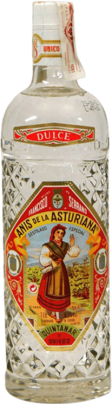 11,95 € Free Shipping | Aniseed Asturiana Anís Sweet Spain Missile Bottle 1 L