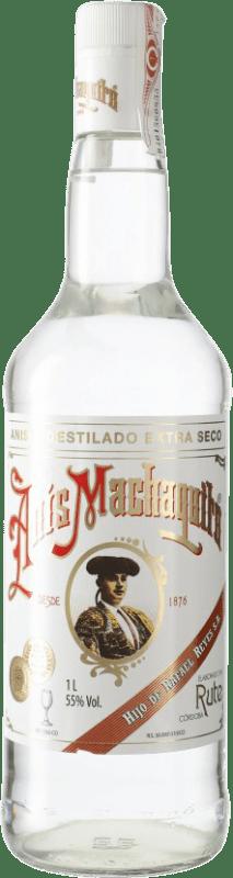 14,95 € Envío gratis | Anisado Anís Machaquito Seco España Botella Misil 1 L