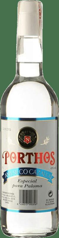 9,95 € Envío gratis | Anisado Cazalla Porthos Seco España Botella Misil 1 L