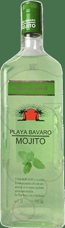 14,95 € Envío gratis | Licores Mojito Playa Bavaro España Botella Mágnum 1,5 L