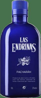 14,95 € Envío gratis | Pacharán Las Endrinas España Botella Misil 1 L