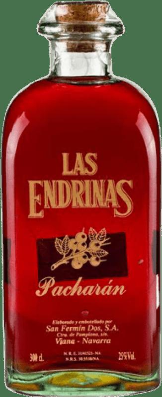 42,95 € Kostenloser Versand | Pacharán Las Endrinas Spanien Jéroboam Flasche-Doppel Magnum 3 L