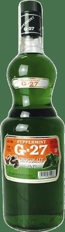 9,95 € Envío gratis | Licores Salas G-27 Mint Chocolate Pippermint España Botella Misil 1 L