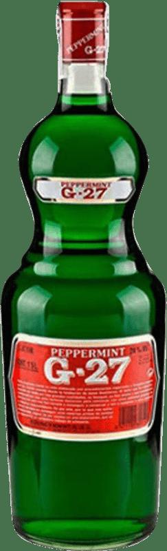 9,95 € Kostenloser Versand | Liköre Salas Verde G-27 Pippermint Spanien Rakete Flasche 1 L