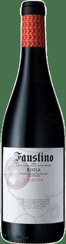 13,95 € Envío gratis | Vino tinto Faustino Crianza D.O.Ca. Rioja La Rioja España Tempranillo Botella Mágnum 1,5 L