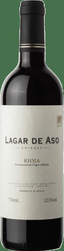 4,95 € Spedizione Gratuita | Vino rosso Lagar de Aso Crianza D.O.Ca. Rioja La Rioja Spagna Tempranillo Bottiglia 75 cl