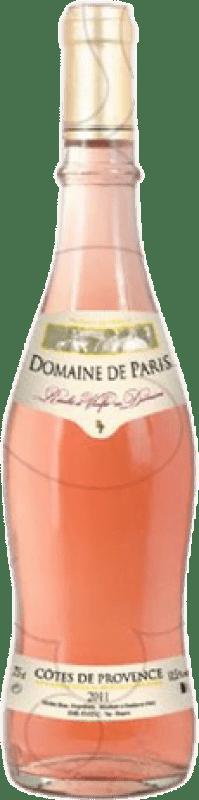 9,95 € Free Shipping | Rosé wine Domaine de París Joven Otras A.O.C. Francia France Syrah, Grenache, Mazuelo, Carignan, Cinsault Bottle 75 cl