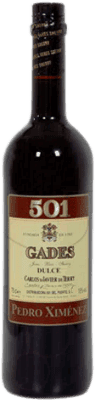 7,95 € Free Shipping | Fortified wine Gades 501 D.O. Jerez-Xérès-Sherry Andalucía y Extremadura Spain Pedro Ximénez Bottle 75 cl