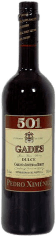7,95 € Free Shipping | Fortified wine Gades 501 D.O. Jerez-Xérès-Sherry Andalucía y Extremadura Spain Pedro Ximénez Bottle 75 cl