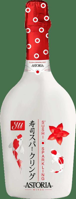 12,95 € Free Shipping | White sparkling Astoria Yu Sushi Sparkling Extra Brut Joven Otras D.O.C. Italia Italy Glera, Prosecco Bottle 75 cl