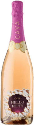 5,95 € Free Shipping | Rosé sparkling Hello Kitty Semi Dry D.O. Cava Catalonia Spain Grenache Bottle 75 cl