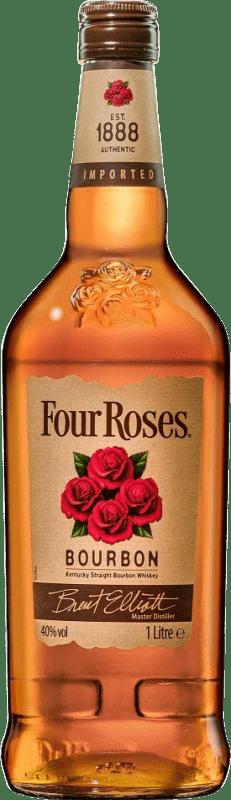 18,95 € Envío gratis | Bourbon Four Roses Estados Unidos Botella Misil 1 L