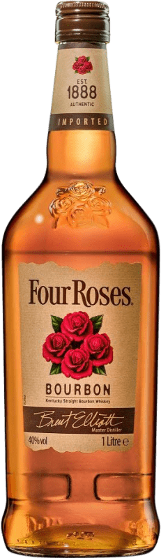18,95 € Free Shipping | Bourbon Four Roses United States Missile Bottle 1 L