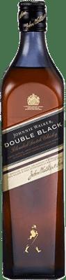 42,95 € Free Shipping | Whisky Blended Johnnie Walker Double Black Reserva United Kingdom Missile Bottle 1 L