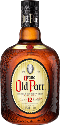 44,95 € Free Shipping | Whisky Blended Old Parr 12 Años Reserva United Kingdom Missile Bottle 1 L