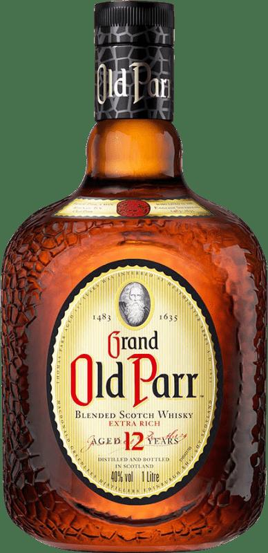 37,95 € Envío gratis | Whisky Blended Old Parr 12 Años Reserva Reino Unido Botella Misil 1 L