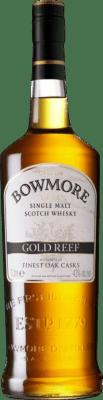 55,95 € Free Shipping | Whisky Single Malt Bowmore Gold Reef United Kingdom Missile Bottle 1 L