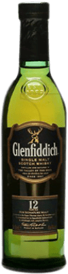 18,95 € Free Shipping | Whisky Single Malt Glenfiddich 12 Años United Kingdom Half Bottle 50 cl