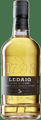 54,95 € Free Shipping | Whisky Single Malt Ledaig 10 Años United Kingdom Bottle 70 cl