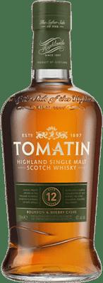 32,95 € Kostenloser Versand | Whiskey Single Malt Tomatin 12 Años Großbritannien Flasche 70 cl