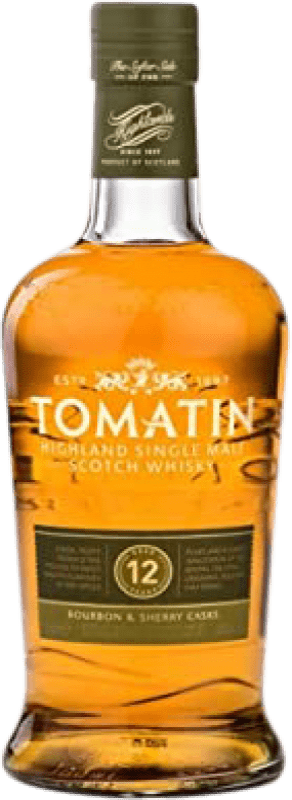 29,95 € Envío gratis | Whisky Single Malt Tomatin 12 Años Reino Unido Botella 70 cl