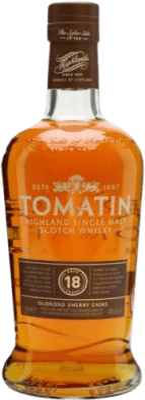 88,95 € Kostenloser Versand | Whiskey Single Malt Tomatin 18 Años Großbritannien Flasche 70 cl