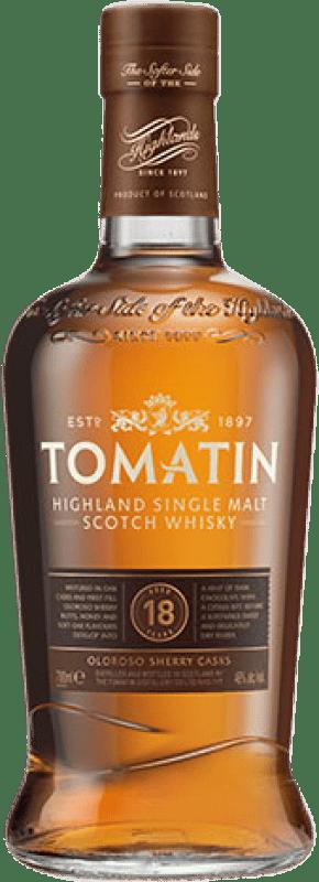 83,95 € Free Shipping | Whisky Single Malt Tomatin 18 Años United Kingdom Bottle 70 cl