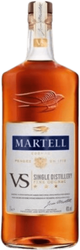 39,95 € Free Shipping | Cognac Martell V.S. Very Special France Missile Bottle 1 L