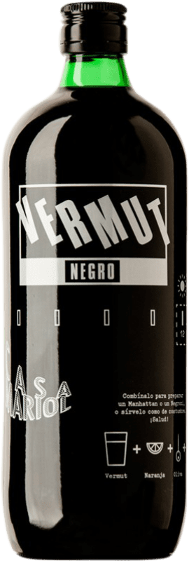 7,95 € Envío gratis | Vermut Casa Mariol Negre España Botella Misil 1 L