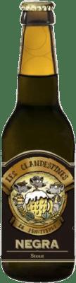 2,95 € Kostenloser Versand   Bier Cervezas Les Clandestines Negra Spanien Botellín Tercio 33 cl