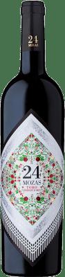 12,95 € Kostenloser Versand | Rotwein Divina Proporción 24 Mozas D.O. Toro Spanien Tinta de Toro Flasche 75 cl