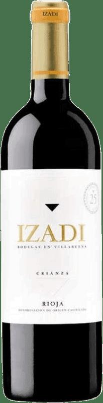 9,95 € Envio grátis | Vinho tinto Izadi Crianza D.O.Ca. Rioja Espanha Tempranillo Garrafa 75 cl