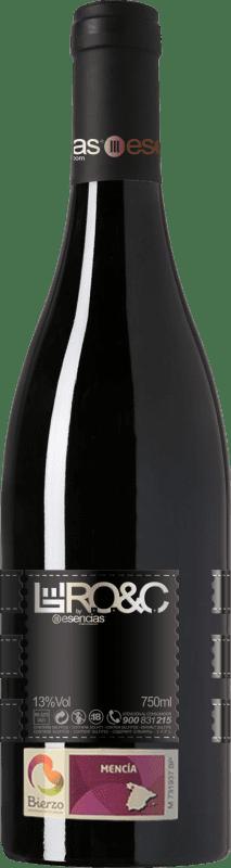 12,95 € Envío gratis | Vino tinto Esencias RO&C del Bierzo Joven D.O. Bierzo Castilla y León España Mencía Botella 75 cl