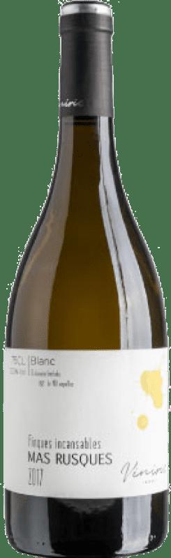 11,95 € Free Shipping | White wine Viníric Finques Incansables Mas Rusques Blanc Joven D.O. Empordà Catalonia Spain Malvasía, Grenache White, Macabeo, Parellada Bottle 75 cl
