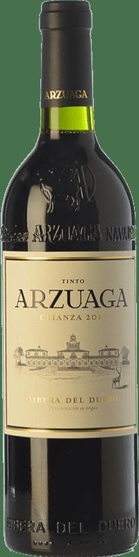 46,95 € Kostenloser Versand | Rotwein Arzuaga Crianza D.O. Ribera del Duero Kastilien und León Spanien Tempranillo, Merlot, Cabernet Sauvignon Magnum-Flasche 1,5 L