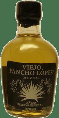 2,95 € Free Shipping   Mezcal Pancho López Añejo Mexico Small Bottle 5 cl