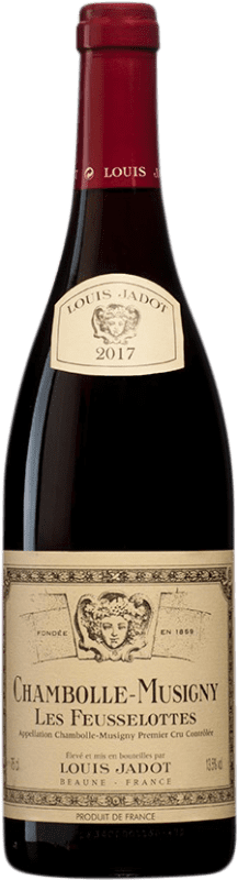 106,95 € Free Shipping | Red wine Louis Jadot 1er Cru Les Feusselottes A.O.C. Chambolle-Musigny Burgundy France Pinot Black Bottle 75 cl