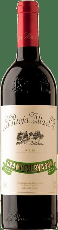 137,95 € Envío gratis | Vino tinto Rioja Alta 904 Gran Reserva 1982 D.O.Ca. Rioja España Tempranillo Botella 75 cl
