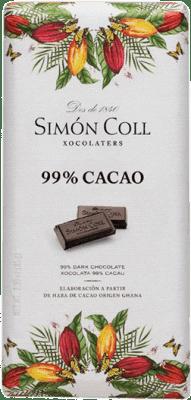 2,95 € Kostenloser Versand | Chocolates y Bombones Simón Coll 99% Cacao Spanien