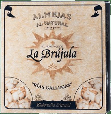 55,95 € Free Shipping | Conservas de Marisco La Brújula Almeja al Natural Spain 45/50 Pieces