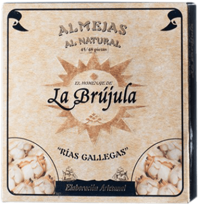 39,95 € Kostenloser Versand | Conservas de Marisco La Brújula Almeja al Natural Spanien 45/50 Stücke